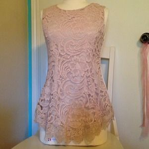 Tops - Blush, lace top
