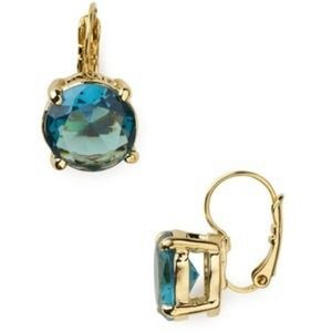 Kate spade 14k plated drop earrings in blue