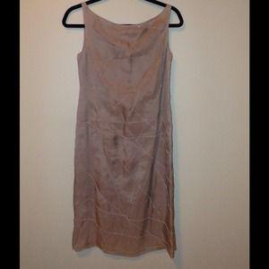 Donna Karan Signature Silver Bead Gridline Dress