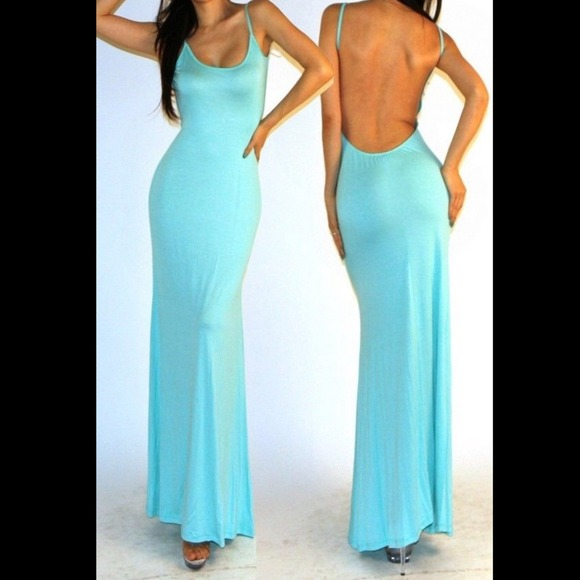 39% off Dresses & Skirts - NEW Sexy Mint Jersey Knit Open Back ...