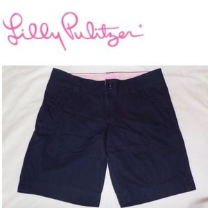 🔴SOLD🔴 LILLY PULITZER Navy Cotton Shorts Sz 2
