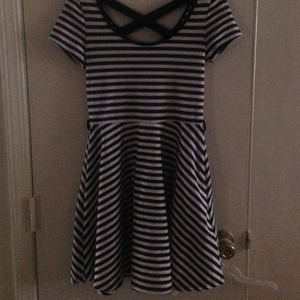 Black and white stripe skater dress!