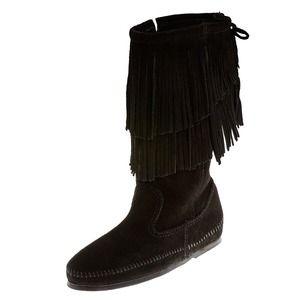 🌸Reserved🌸 Fringe Moccasin Boots