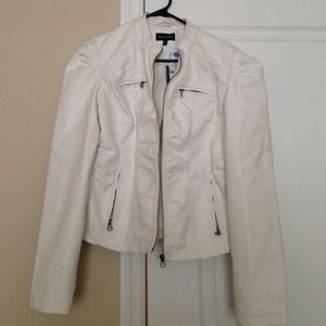 New Look  Jackets & Blazers - White Pleather Jacket