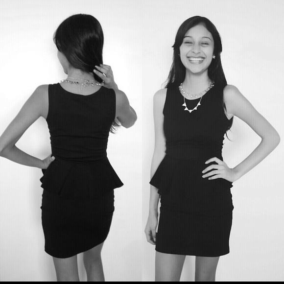 40% off boohoo Dresses & Skirts - Boohoo peplum black dress in ...