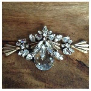 J. Crew Jewelry - J.Crew fanned link crystal bracelet