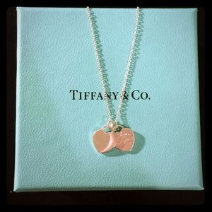 Tiffany & Co Mini Double Heart Tag Pendant