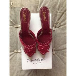 Yves Saint Laurent Shoes - [YSL] heart mules