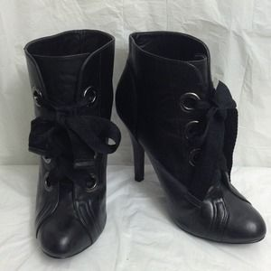 New Price!  Ribbon lace up bootie!