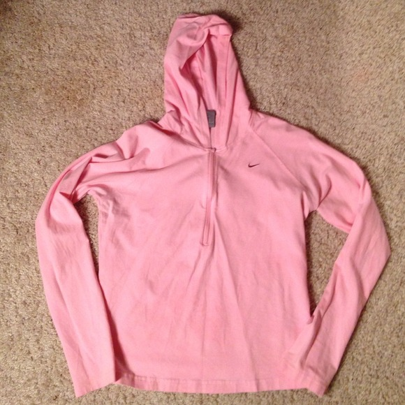 Nike - Light pink half zip up Nike hoodie from Sarah's closet on ...