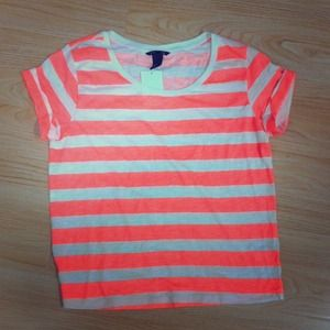 SOLD Coral stripes h&m tshirt