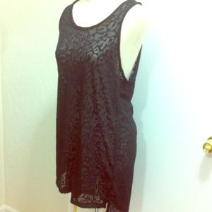 SOLD H&m sheer oversized tank