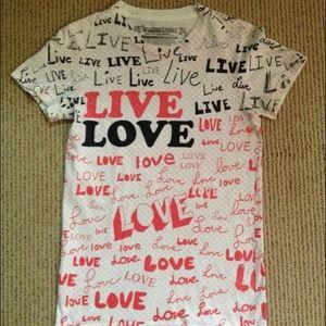 "💕GLAMOUR KILLS Live Love ""All Over"" Print Shirt"