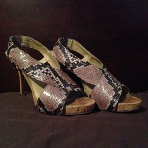 PRICE DROP! NINE WEST Snake Skin Heels 