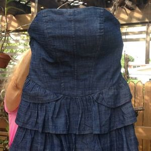 Romeo & Juliet Couture Ruffle Denim Dress
