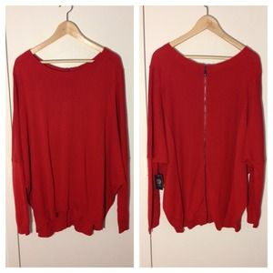 Vince Camuto Back-Zip Sweater