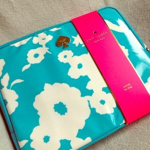 Kate Spade Picnic Floral iPad 2 or 3 Sleeve Aqua