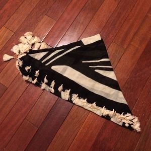 Madewell scarf with tassels