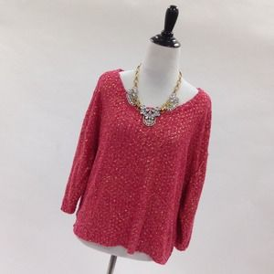 H&M Sweaters - Coral & Gold Slouchy Sweater