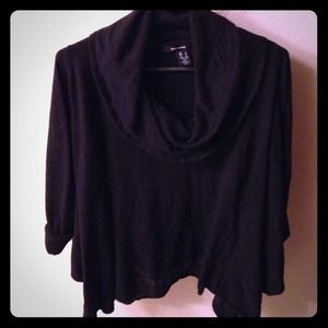 Dkny black cowl neck sweater. Size large.