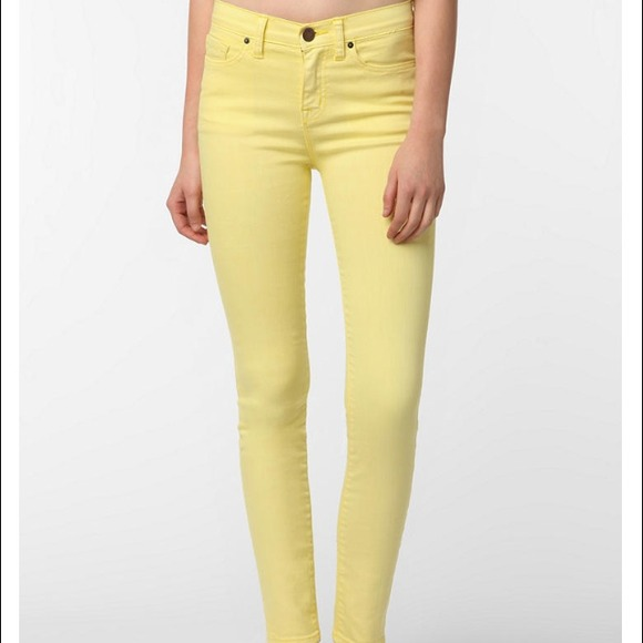 71% off Denim - BDG pale yellow high waisted jeans from Ariana's ...