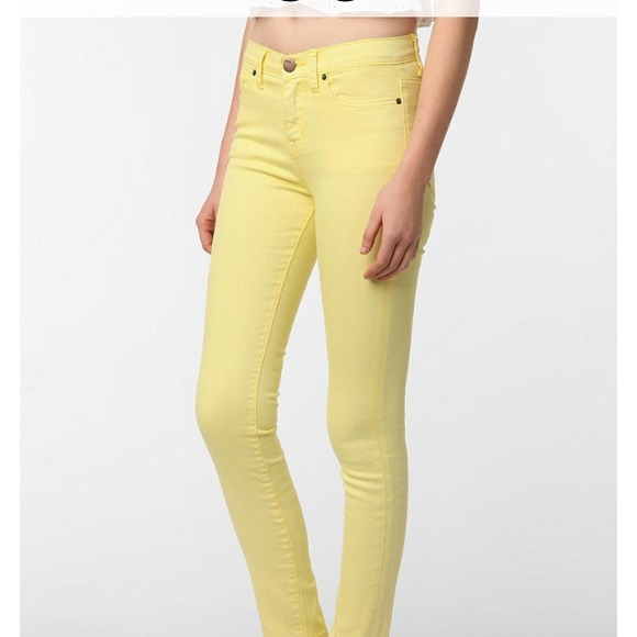 71% off Denim - BDG pale yellow high waisted jeans from ! ari's ...