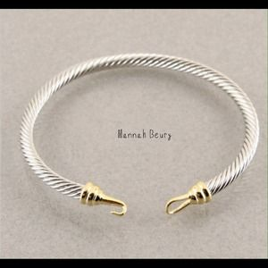 Hannah Beury Jewelry - Two Tone Cable Hook Bracelet