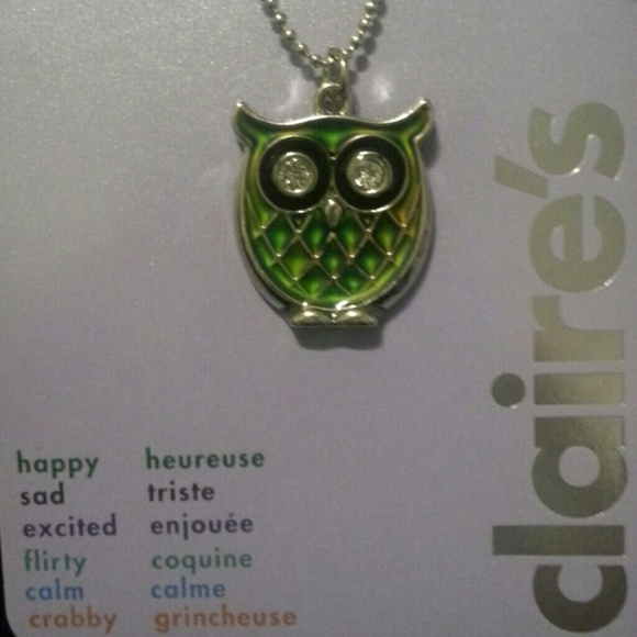 Claire S Sold Mood Color Changing Owl Necklace From