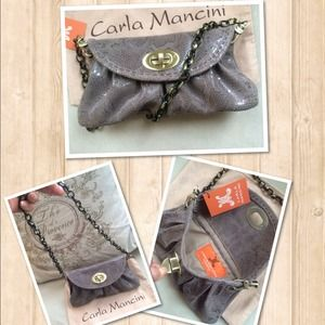 New - Carla Mancini mini leather clutch