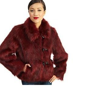 NEW Luxe Rachel Zoe Faux Fur Toggle Coat 1/22 HP