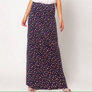 Asos floral knit maxi skirt