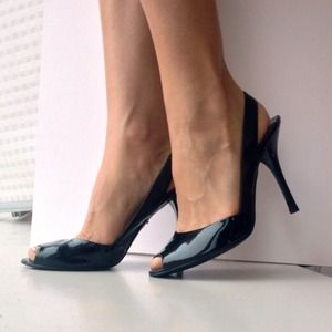 Guess Sling-back Patent Leather Heals