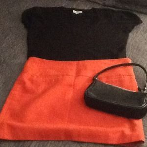 ❤️ GAP Tangerine Wool blend mini skirt