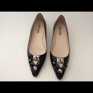 Prada Shoes - ❌❌Sold*Prada embellished flats❌❌