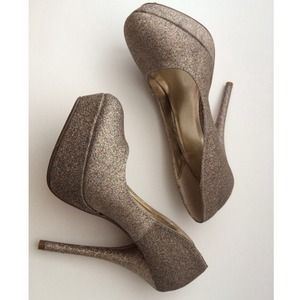Forever 21 Shoes - Glitter Platform Pumps