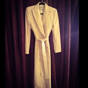 Dolce & Gabbana Jackets & Blazers - ❗SALE❗Dolce & Gabbana Winter-White Long Coat 6