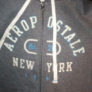 Aeropostale. S. Blue&white zip hoodie.