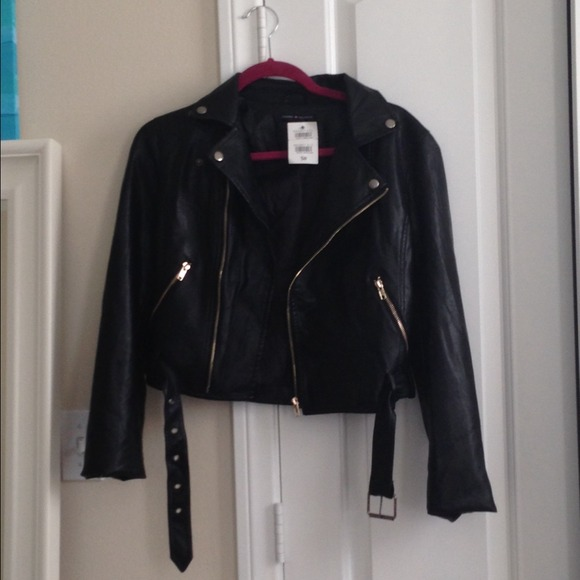 off Brandy Melville Jackets & Blazers - Brandy Melville Leather Jacket ...