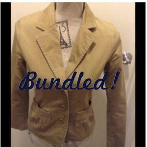 ❌BUNDLED❌ Old Navy khaki stretch blazer