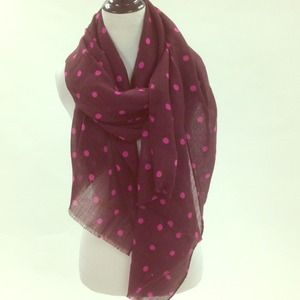 J. Crew Accessories - J.Crew fine wool polka dot scarf