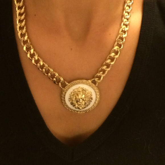 Versace Inspired Necklace ⚡️versace Inspired Gold Lion