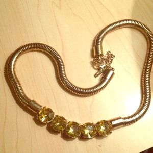 Gold and Yellow Collar Necklace