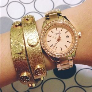 PM EDITOR PICK rose gold fossil watch