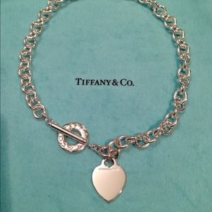 Authentic Tiffany&Co heart tag toggle necklace