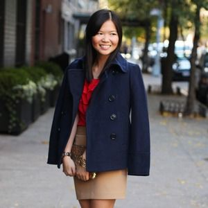 J. Crew Outerwear - REDUCED: J.Crew Navy Wool Pea Coat