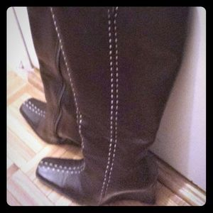Tall Brown Brazilian Leather Boots