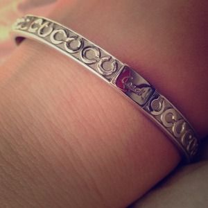 Authentic Coach Silver Bangle Bracelete