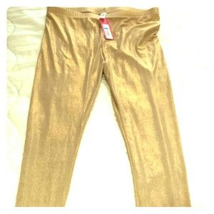 Accessories - Gold Shimmery Leggings