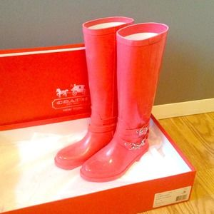 Coach Shoes - Coach rain boots ! 1