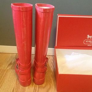 Coach Shoes - Coach rain boots ! 4